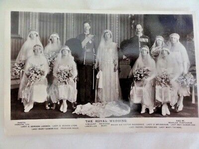 Postcard The Royal Wedding of Princess Mary and Viscount Lascelles