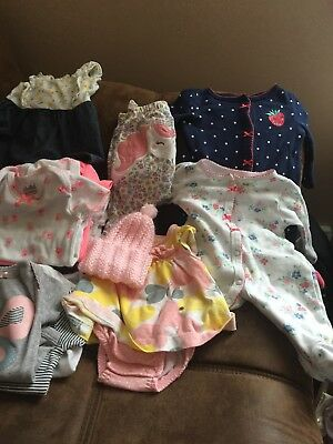 baby girl clothes lots Newborn And 0-3 Months