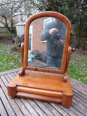 Lovely Antique Edwardian Wash Stand Dressing Table Mirror With Drawer.