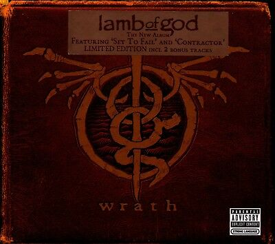 LAMB OF GOD - Wrath - CD Album *Digipak* *2 Bonus Tracks* *Limited Edition*