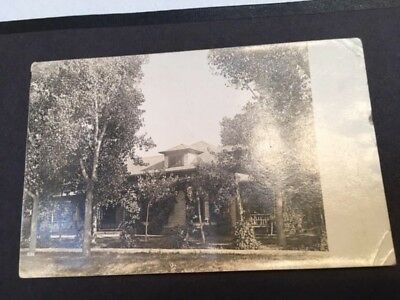 Lamar CO, pre 1910 real photo postcard, House, postmarked in Lamar in 1908