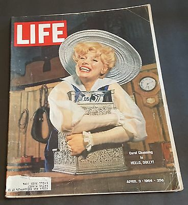 April 3, 1964 LIFE Magazine CAROL CHANNING + FREE SHIPPING Apr 4 2 1 5 6 7 8 9