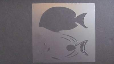 fish mermaid scales stencil many sizes ocean template paint craft