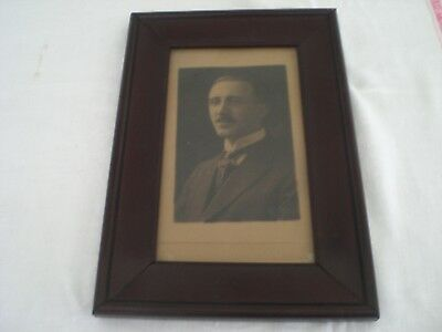 Vintage Wood Mahogany ? Picture Frame with Glass