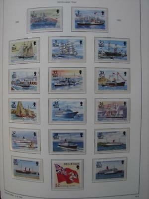 (T938)  Isle Of Man Mnh 1993 Sg539-557 Ships Complete Set To £5 All Mnh