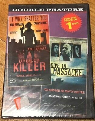 Classic Double Feature: Drive-In Massacre / Driller Killer DVD Horror OOP NEW