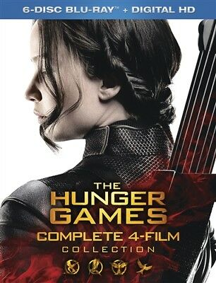 THE HUNGER GAMES COMPLETE 4 FILM COLLECTION New Blu-ray Catching Fire Mockingjay