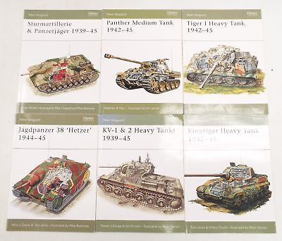 6 x NEW VANGUARD Books on WWII Tanks Published by OSPREY PUBLISHING - W49