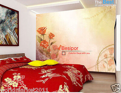 """Modernist Environmental Decoration Customized Wallpaper/Wall Paintings""""Rose"""""""