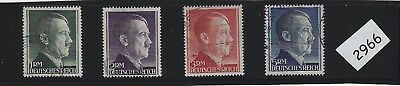 Adolph Hitler stamp set / Complete Third Reich Issues 1RM - 5RM / FREE HOLDER!