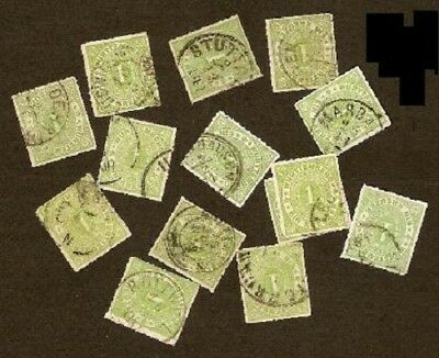 GERMANY WURTEMBERG LOT SC 47x14 and 49x21 USED GOOD SHADES AND PMKS  FVF
