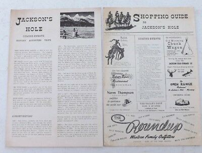 2 Vintage Items 1964 Jackson Hole Wy Ephemera Shopping Guide Ads Events Flyer