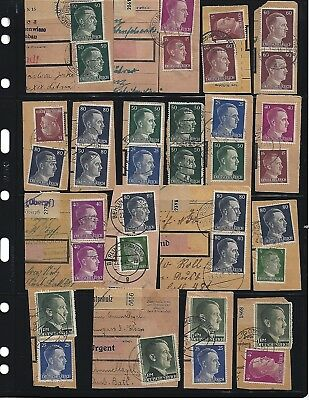 Adolph Hitler stamps on paper / 4 scans  100+ Stamps / Third Reich Nazi Germany