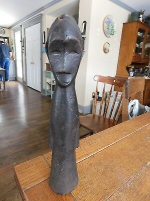 Vintage Estate GURO Carved Wood African Figure Sculpture-Ivory Coast-Early 1900