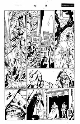 Avengers Original Comic art page by mark bagley
