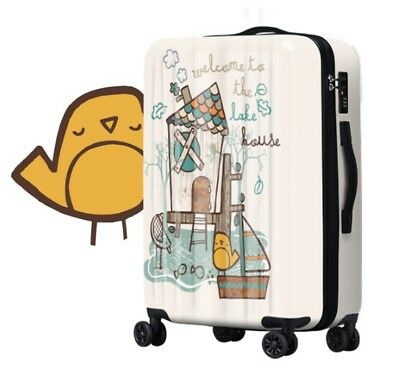 A293 Cartoon Birds Universal Wheel ABS+PC Travel Suitcase Luggage 20 Inches W