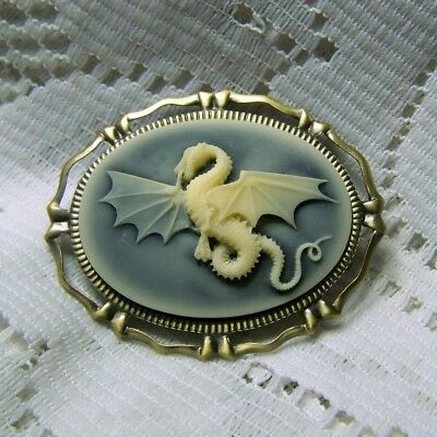 Flying Dragon Pendant Brooch combo, Celtic Dragon, Gothic Winged Dragon Pin