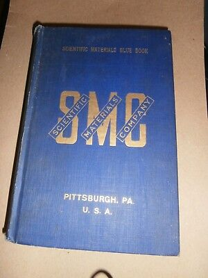 1919 Scientific Materials Co Pittsburgh Pa Blue Book Tools Instrument Catalog