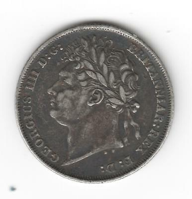 GEORGE 4th 1824 shilling nice condition