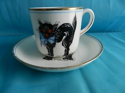Rare find!  Paragon Lucky Cats Cup and Saucer