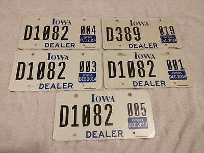 IOWA DEALER Used Condition USA American License Number Plate