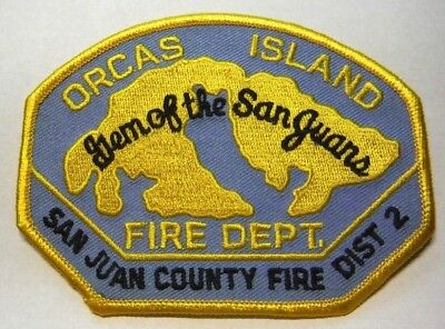 Orcas Island San Juan County Washington Fire District 2 Patch Unused