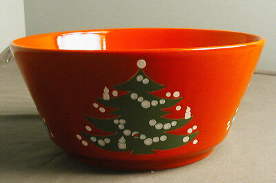 """CHRISTMAS TREE BY WAECHTERSBACH GERMANY - 9"""" SALAD SERVING BOWL - HOLIDAY - vh"""