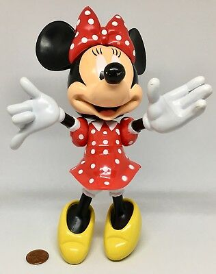 "Disney Parks MINNIE MOUSE 8"" Articulated Figure ~ Preowned ~ Ships Free!"