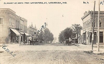 LP86 Wakarusa  Indiana  Postcard  RPPC Elkhart St View