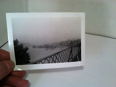 1939 Bridge over Ohio River East Liverpool, OH &  West Virginia real photo