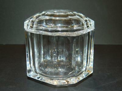 Tiffany & Co Clear Glass Square Dresser or Trinket Box Marked Vintage