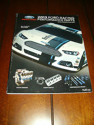 2013 Ford  Performance Parts Catalog / Brochure -Mustang - Fusion  - Focus
