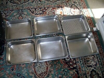 6 Stainless Steel Steam Prep Table Chafing catering Dish Food Pan