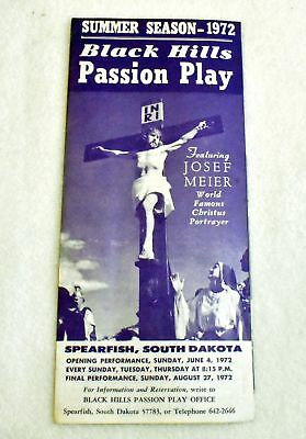 Vintage 1972 Black Hills Summer Season Passion Play Spearfish SD Program Bill