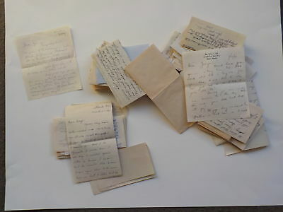 65 WWII Letters Navy Serviceman George Mell Collection Correspondence Lot WW2