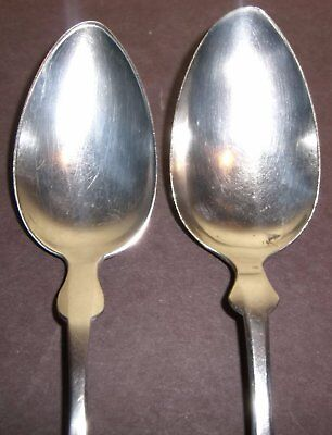 Wedding Spoons PEARCE Family Heart Silverplate Antique Dixon Int'l Pair Craft