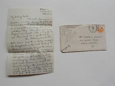 WWII Letter 1945 Adopted Children Belgium Resistance Executed By Germans WW2