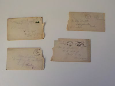 4 WWI Letters 10th Infantry Camp Custer Michigan Soldier World War One Lot WW1