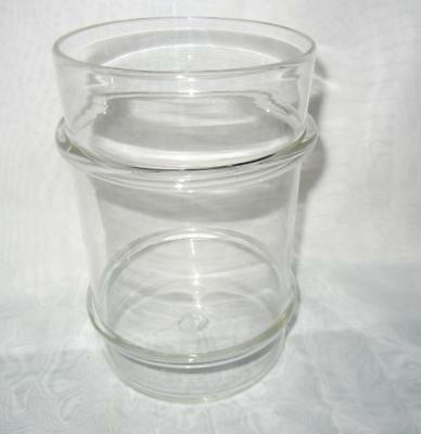"""8"""" Antique 19th Century Blown Glass Apothecary Jar Canister Applied Rings"""