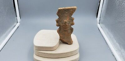 Large Vintage Mayan Terra Cotta Head From Private Estate # 6, RARE
