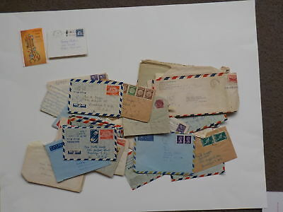 32 Old Letters 1940s-70s Jewish Woman New Years Card Brooklyn New York Lot VTG N