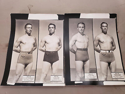Shirtless Young Men, gay interest, 1930s Janzten swimsuit qty 2