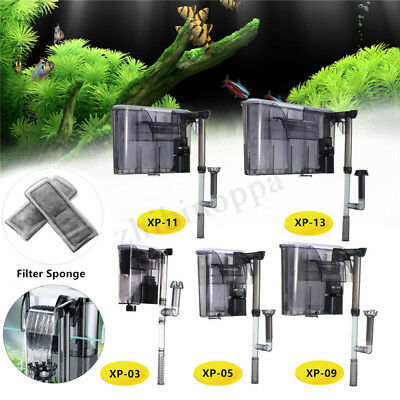 External Aquarium Hang On Waterfall Water Filter Fish Tank Marine