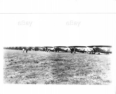 Vintage Aircraft Photo Air Corps Line-Up Norton Field Usaf Columbus Ohio 1929 Oh