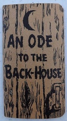 Vintage An Ode To The Back House Booklet Poem Mansfield Sanitary Products Oh