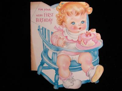 "Vintage ""one Little Candle On Your Cake!!"" Birthday Greeting Card"