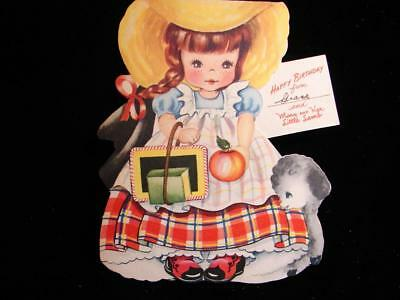 "Vintage ""from Mary And Her Little Lamb - Doll Card!!"" Birthday Greeting Card"
