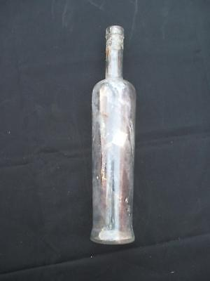 Clear Glass Dug Bottle Vintage Antique 12x3 Tall