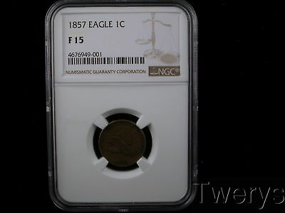 1857 Flying Eagle Small Cent Ngc F 15