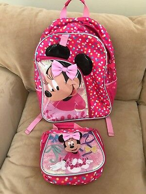"""Disney """"Minnie Mouse"""" Backpack and Lunchbox"""